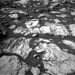 Nasa's Mars rover Curiosity acquired this image using its Left Navigation Camera on Sol 1489, at drive 1986, site number 58