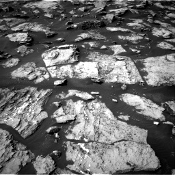 Nasa's Mars rover Curiosity acquired this image using its Right Navigation Camera on Sol 1489, at drive 1986, site number 58