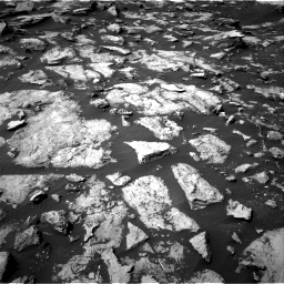 Nasa's Mars rover Curiosity acquired this image using its Right Navigation Camera on Sol 1489, at drive 2010, site number 58