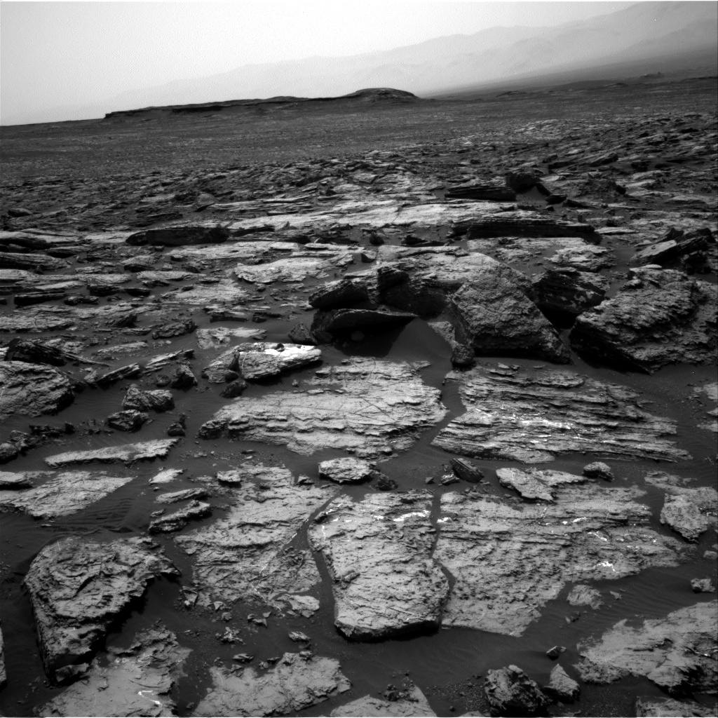 Nasa's Mars rover Curiosity acquired this image using its Right Navigation Camera on Sol 1489, at drive 2046, site number 58