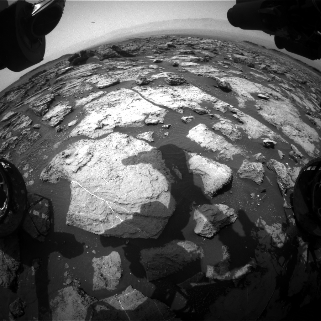 Nasa's Mars rover Curiosity acquired this image using its Front Hazard Avoidance Camera (Front Hazcam) on Sol 1490, at drive 2046, site number 58