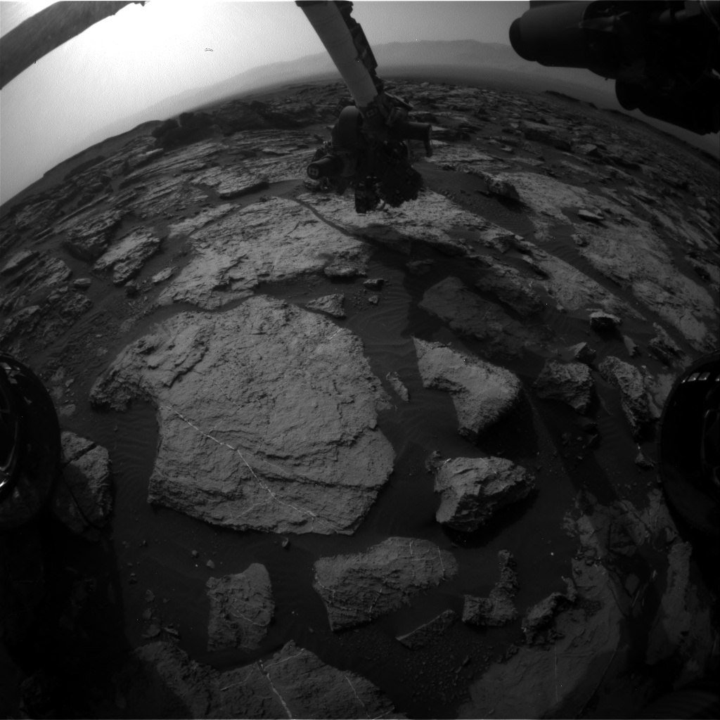 Nasa's Mars rover Curiosity acquired this image using its Front Hazard Avoidance Camera (Front Hazcam) on Sol 1491, at drive 2046, site number 58