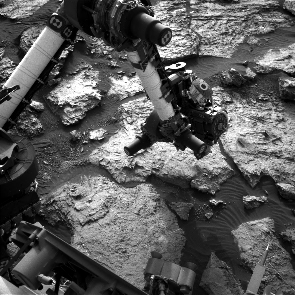 Nasa's Mars rover Curiosity acquired this image using its Left Navigation Camera on Sol 1491, at drive 2046, site number 58