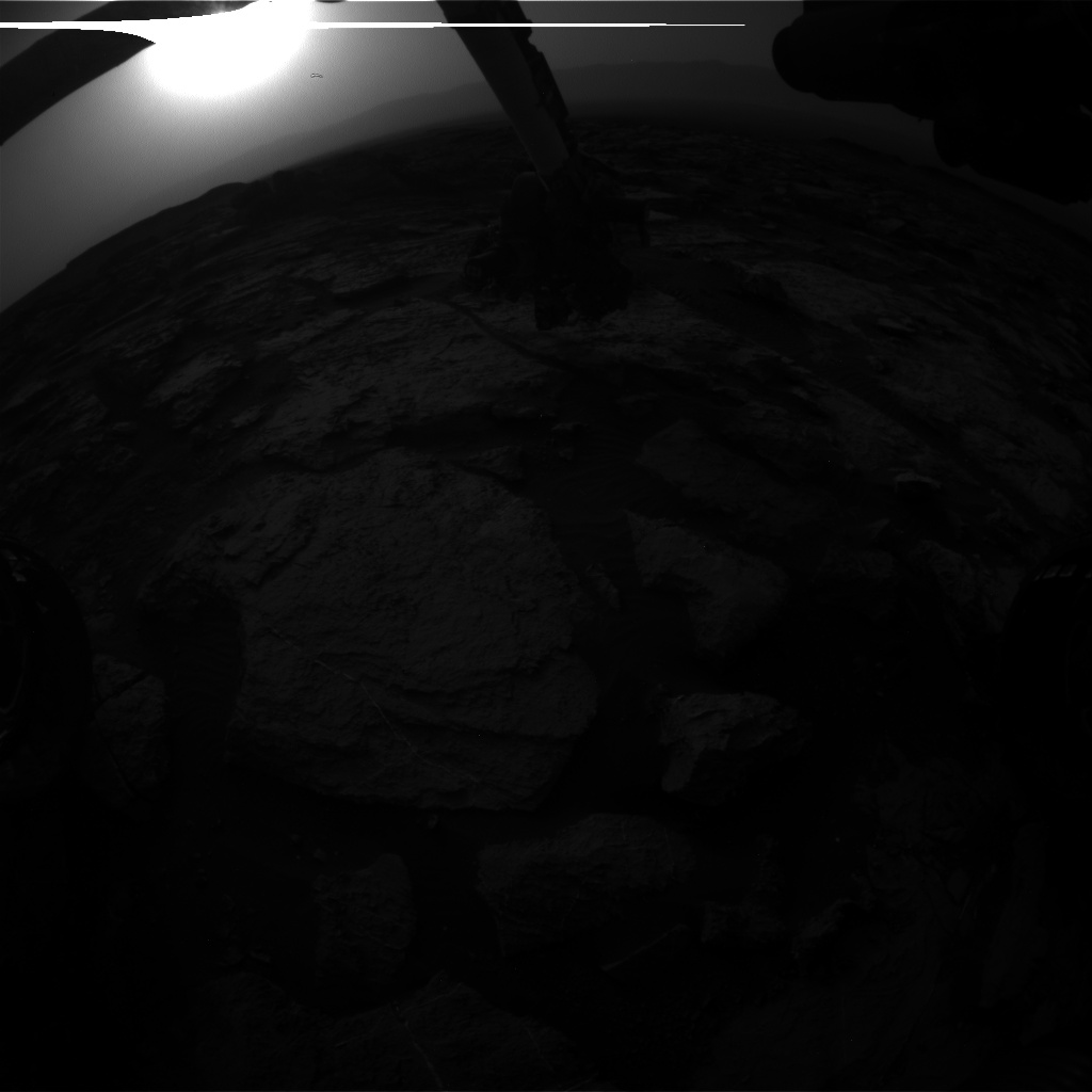 Nasa's Mars rover Curiosity acquired this image using its Front Hazard Avoidance Camera (Front Hazcam) on Sol 1493, at drive 2046, site number 58
