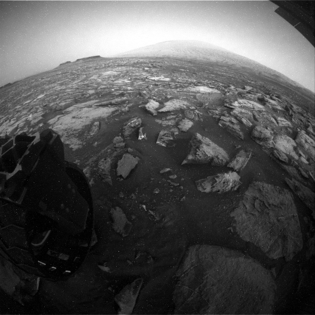 NASA's Mars rover Curiosity acquired this image using its Rear Hazard Avoidance Cameras (Rear Hazcams) on Sol 1493