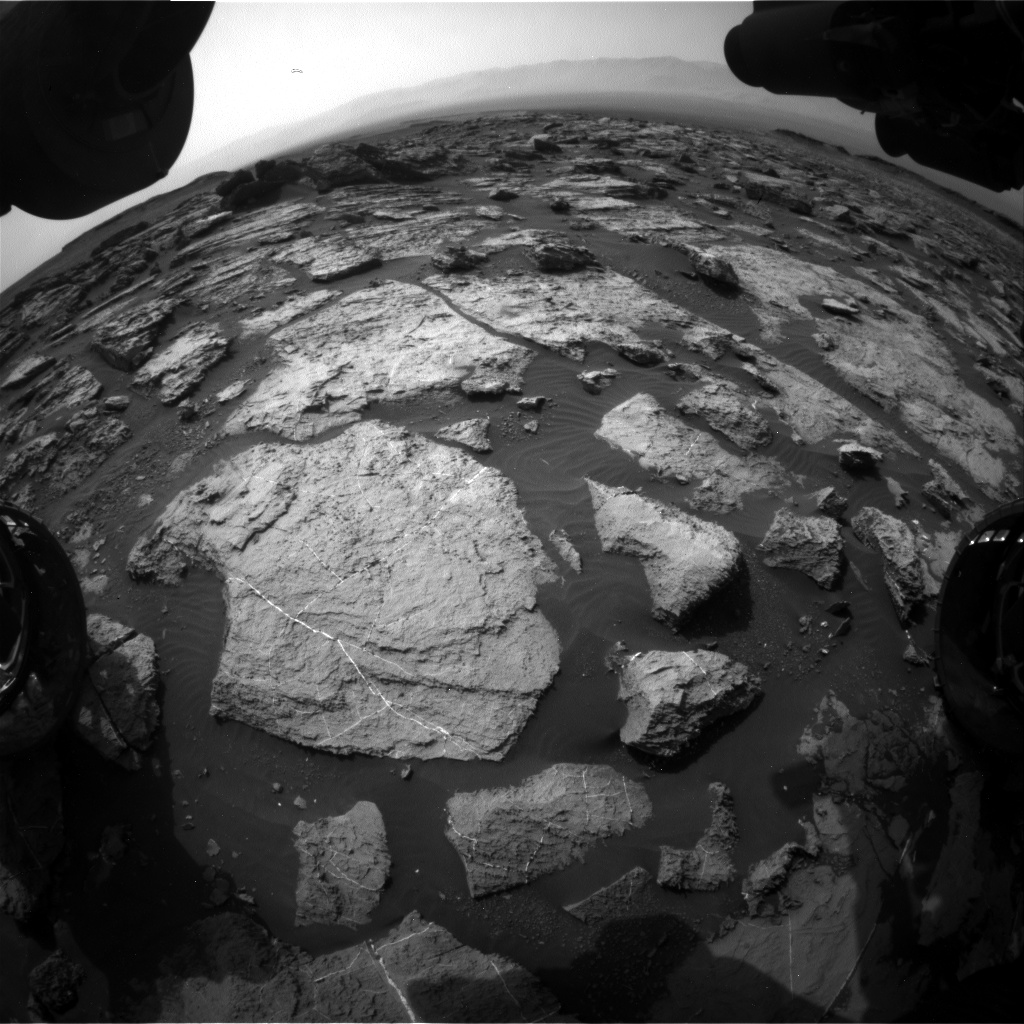 Nasa's Mars rover Curiosity acquired this image using its Front Hazard Avoidance Camera (Front Hazcam) on Sol 1494, at drive 2046, site number 58