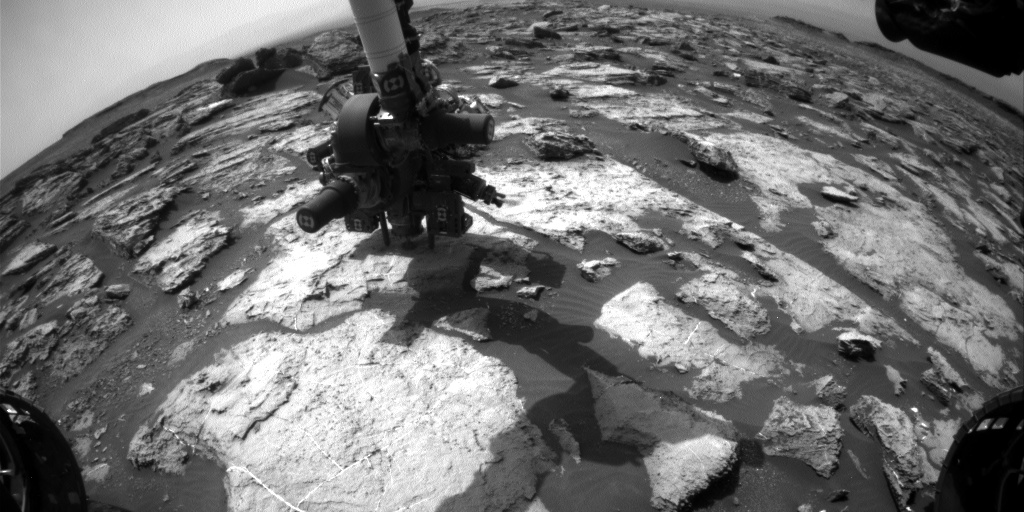 Nasa's Mars rover Curiosity acquired this image using its Front Hazard Avoidance Camera (Front Hazcam) on Sol 1495, at drive 2046, site number 58