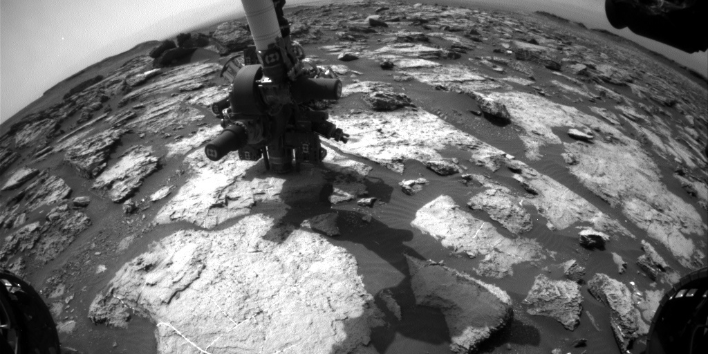 NASA's Mars rover Curiosity acquired this image using its Front Hazard Avoidance Cameras (Front Hazcams) on Sol 1495