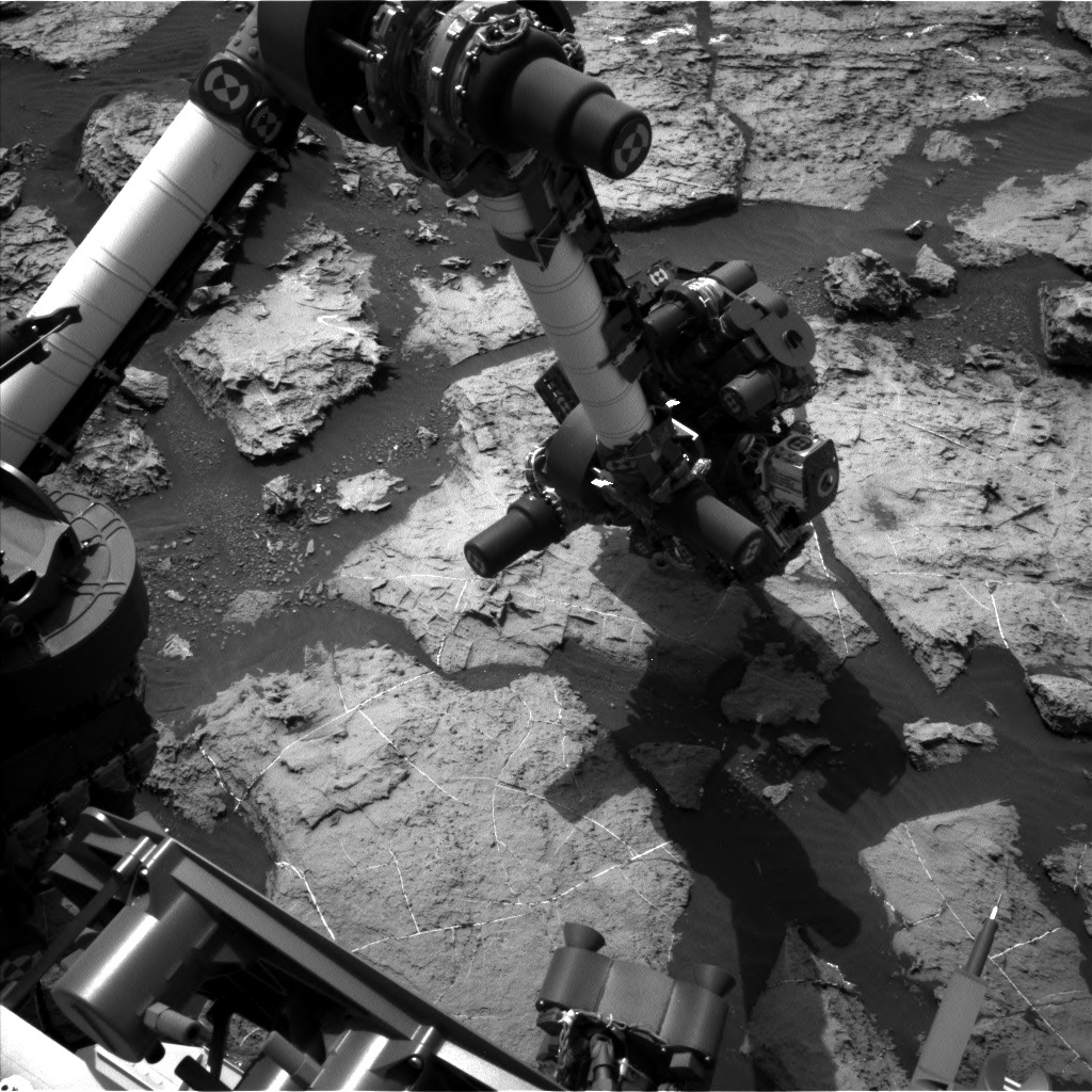 NASA's Mars rover Curiosity acquired this image using its Left Navigation Camera (Navcams) on Sol 1495