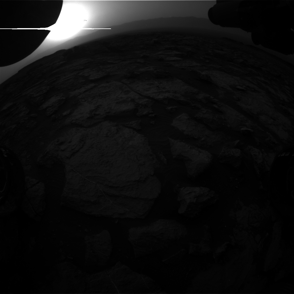 Nasa's Mars rover Curiosity acquired this image using its Front Hazard Avoidance Camera (Front Hazcam) on Sol 1496, at drive 2046, site number 58