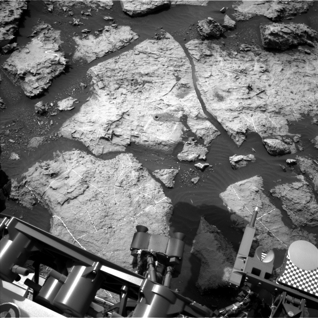 NASA's Mars rover Curiosity acquired this image using its Left Navigation Camera (Navcams) on Sol 1496