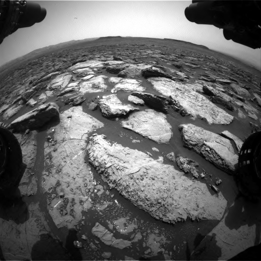 Nasa's Mars rover Curiosity acquired this image using its Front Hazard Avoidance Camera (Front Hazcam) on Sol 1499, at drive 2136, site number 58