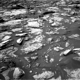 Nasa's Mars rover Curiosity acquired this image using its Left Navigation Camera on Sol 1499, at drive 2088, site number 58