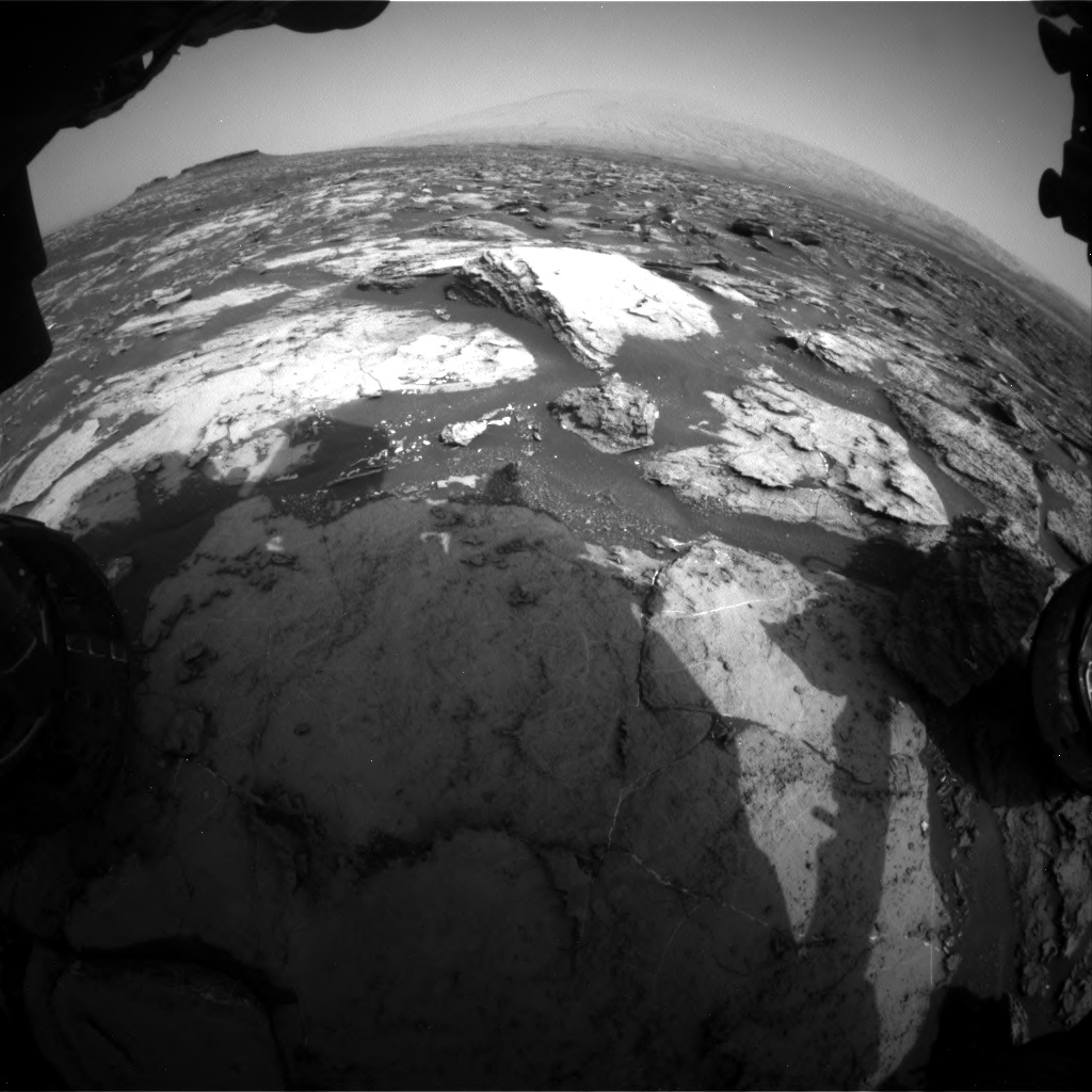 Nasa's Mars rover Curiosity acquired this image using its Front Hazard Avoidance Camera (Front Hazcam) on Sol 1500, at drive 2394, site number 58