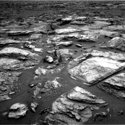 Nasa's Mars rover Curiosity acquired this image using its Left Navigation Camera on Sol 1500, at drive 2322, site number 58