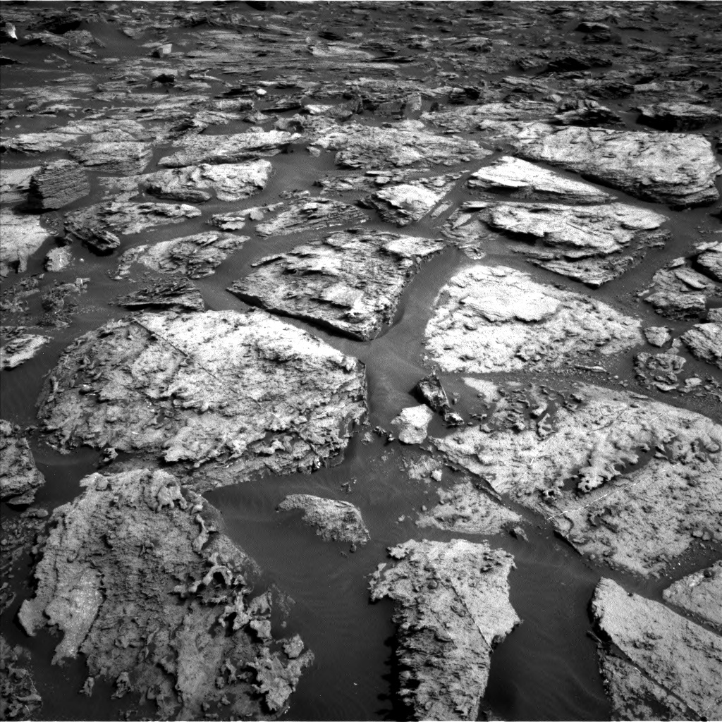 Nasa's Mars rover Curiosity acquired this image using its Left Navigation Camera on Sol 1500, at drive 2340, site number 58