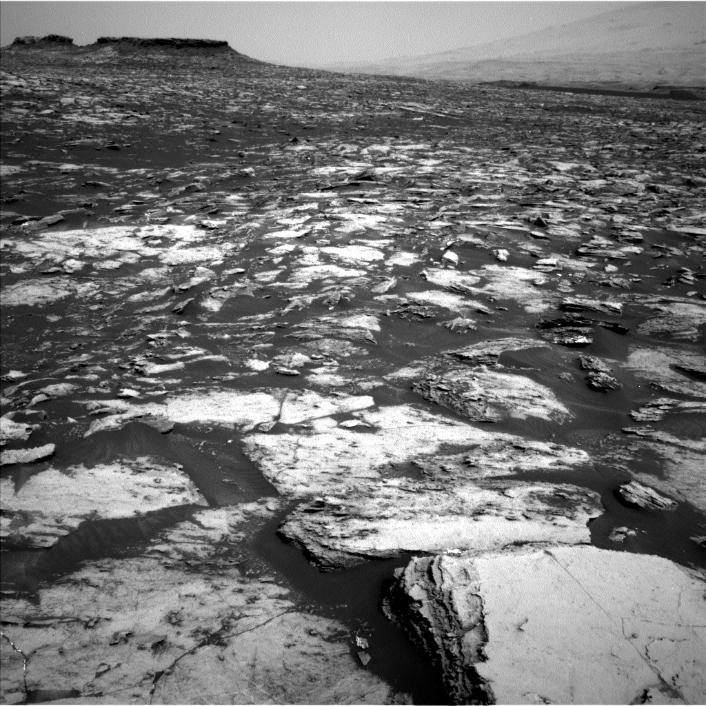 Nasa's Mars rover Curiosity acquired this image using its Left Navigation Camera on Sol 1500, at drive 2394, site number 58