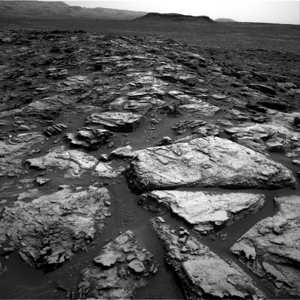 NASA's Mars rover Curiosity acquired this image using its Right Navigation Cameras (Navcams) on Sol 1500