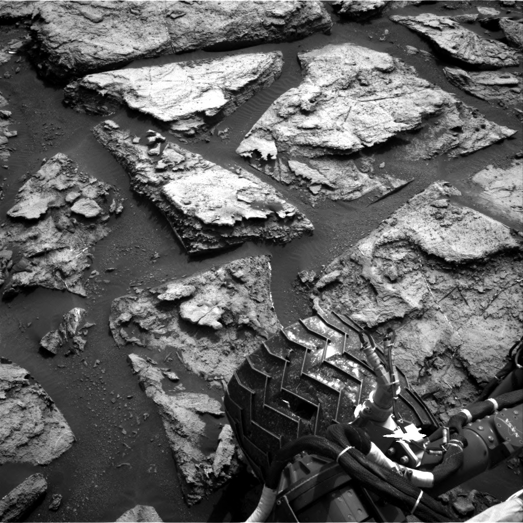 Nasa's Mars rover Curiosity acquired this image using its Right Navigation Camera on Sol 1500, at drive 2394, site number 58