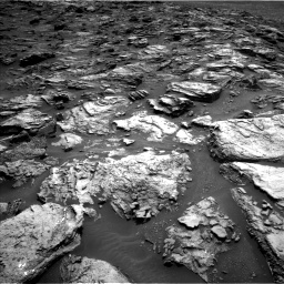 Nasa's Mars rover Curiosity acquired this image using its Left Navigation Camera on Sol 1501, at drive 2400, site number 58