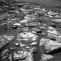 Nasa's Mars rover Curiosity acquired this image using its Left Navigation Camera on Sol 1501, at drive 2442, site number 58