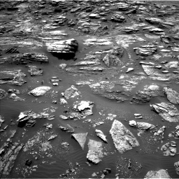 Nasa's Mars rover Curiosity acquired this image using its Left Navigation Camera on Sol 1501, at drive 2472, site number 58