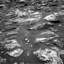 Nasa's Mars rover Curiosity acquired this image using its Left Navigation Camera on Sol 1501, at drive 2502, site number 58
