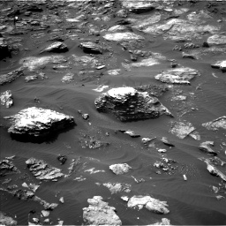 Nasa's Mars rover Curiosity acquired this image using its Left Navigation Camera on Sol 1501, at drive 2568, site number 58