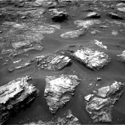 Nasa's Mars rover Curiosity acquired this image using its Left Navigation Camera on Sol 1501, at drive 2586, site number 58