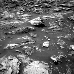 Nasa's Mars rover Curiosity acquired this image using its Right Navigation Camera on Sol 1501, at drive 2496, site number 58
