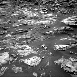 Nasa's Mars rover Curiosity acquired this image using its Right Navigation Camera on Sol 1501, at drive 2508, site number 58