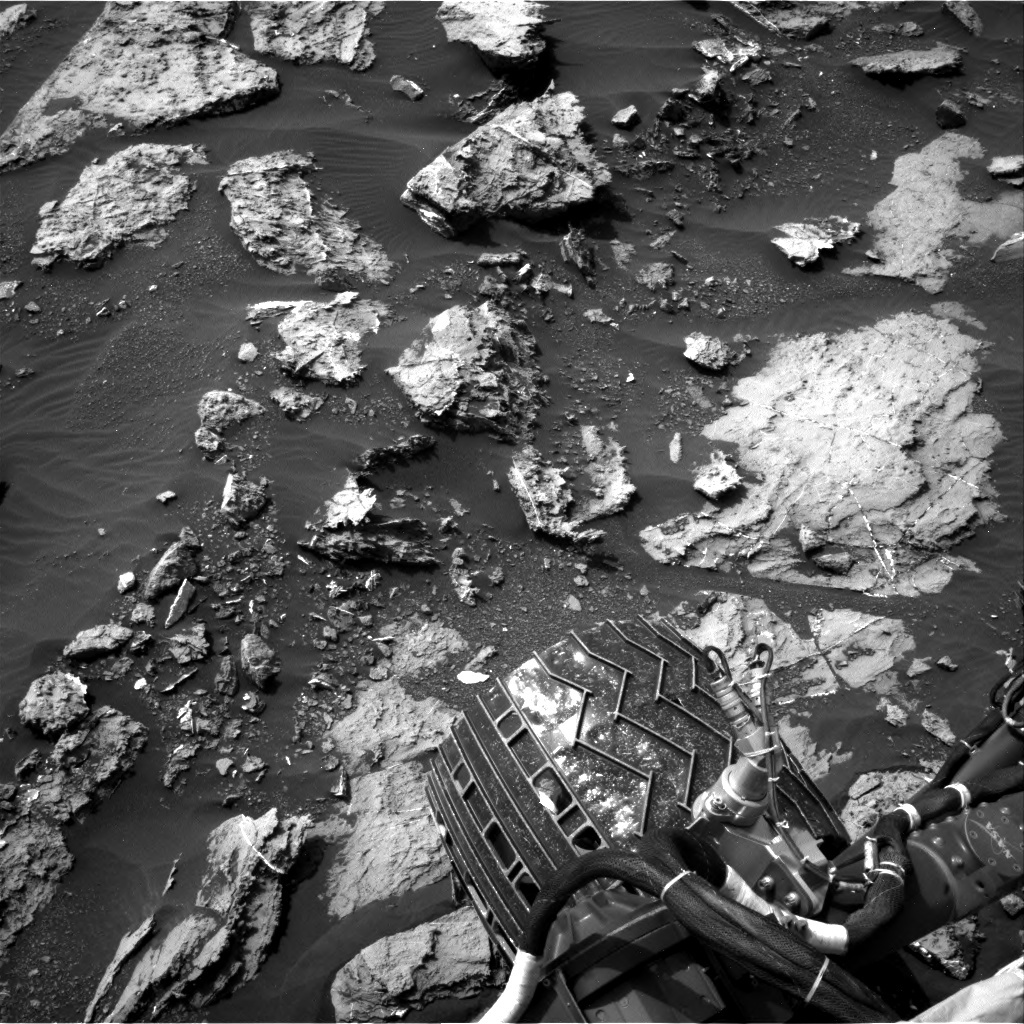 Navcam view from sol 1501