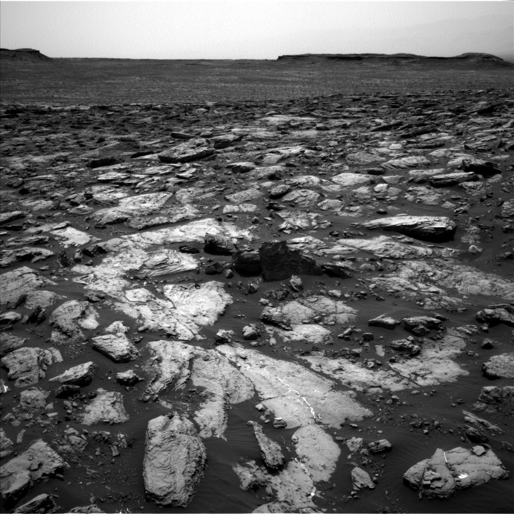 NASA's Mars rover Curiosity acquired this image using its Left Navigation Camera (Navcams) on Sol 1502