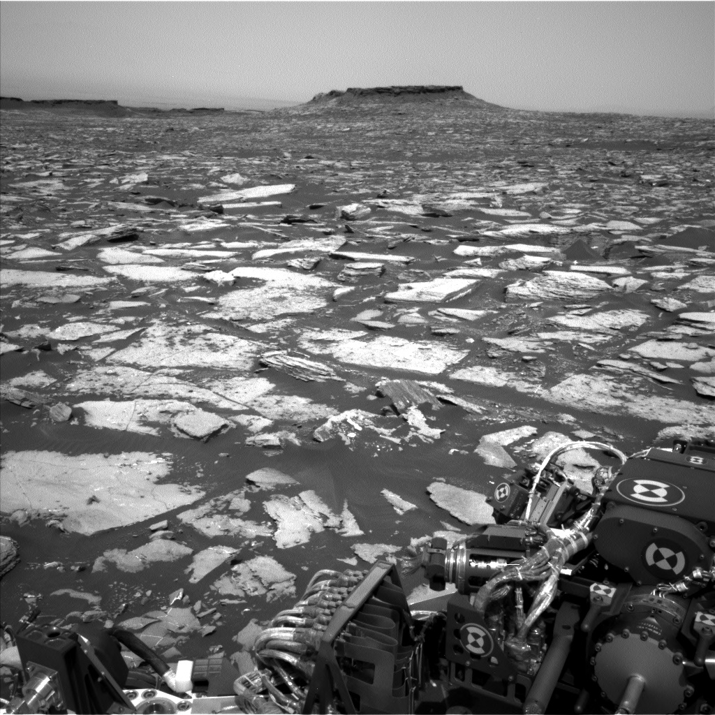 Nasa's Mars rover Curiosity acquired this image using its Left Navigation Camera on Sol 1502, at drive 2946, site number 58