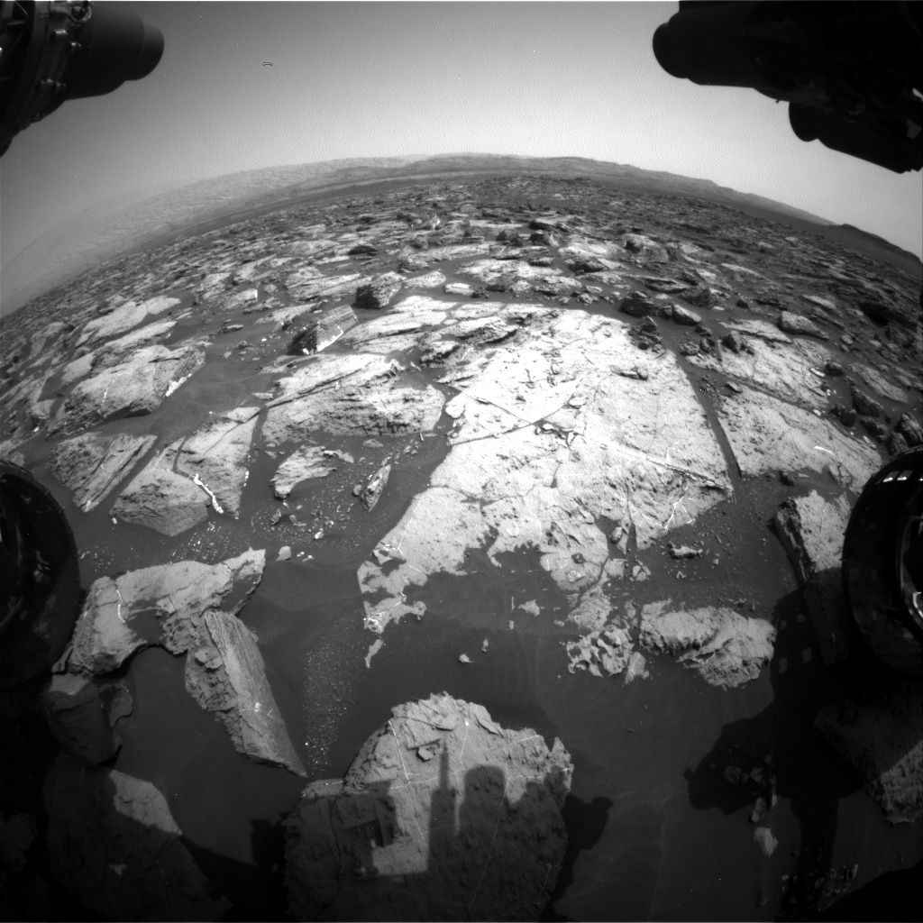 Nasa's Mars rover Curiosity acquired this image using its Front Hazard Avoidance Camera (Front Hazcam) on Sol 1503, at drive 0, site number 59
