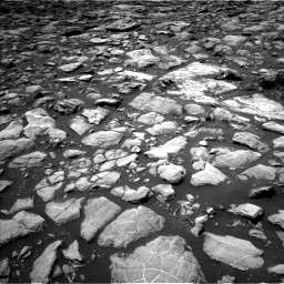 Nasa's Mars rover Curiosity acquired this image using its Left Navigation Camera on Sol 1503, at drive 2988, site number 58