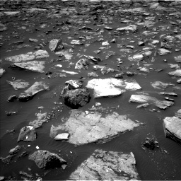 Nasa's Mars rover Curiosity acquired this image using its Left Navigation Camera on Sol 1503, at drive 3042, site number 58