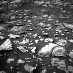 Nasa's Mars rover Curiosity acquired this image using its Left Navigation Camera on Sol 1503, at drive 3120, site number 58