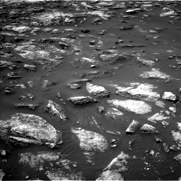 Nasa's Mars rover Curiosity acquired this image using its Left Navigation Camera on Sol 1503, at drive 3180, site number 58
