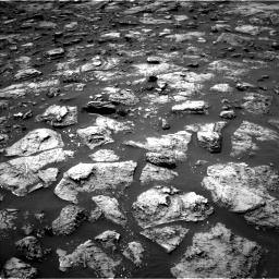 Nasa's Mars rover Curiosity acquired this image using its Left Navigation Camera on Sol 1503, at drive 3216, site number 58