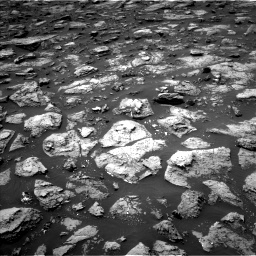Nasa's Mars rover Curiosity acquired this image using its Left Navigation Camera on Sol 1503, at drive 3222, site number 58