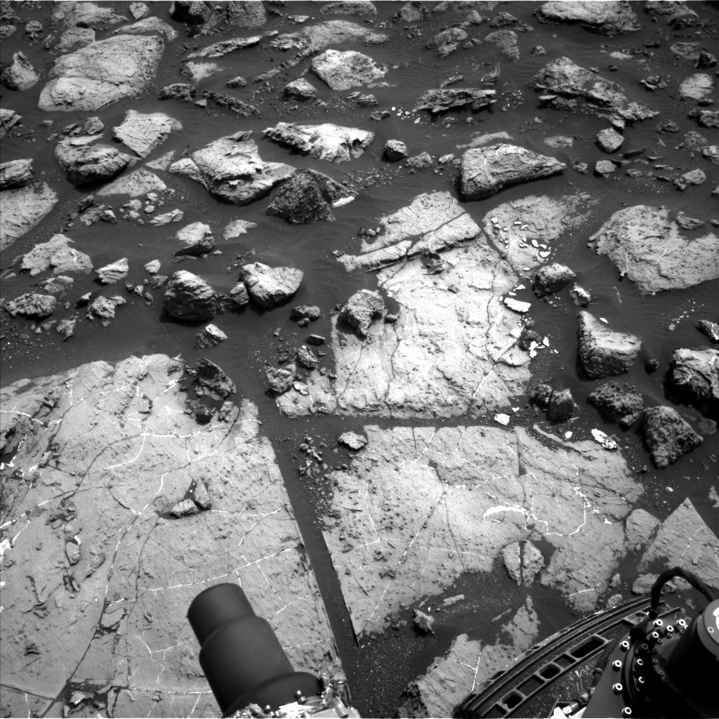 Nasa's Mars rover Curiosity acquired this image using its Left Navigation Camera on Sol 1503, at drive 0, site number 59