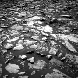 Nasa's Mars rover Curiosity acquired this image using its Right Navigation Camera on Sol 1503, at drive 2982, site number 58