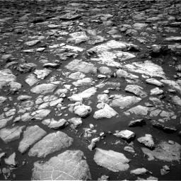 Nasa's Mars rover Curiosity acquired this image using its Right Navigation Camera on Sol 1503, at drive 2988, site number 58