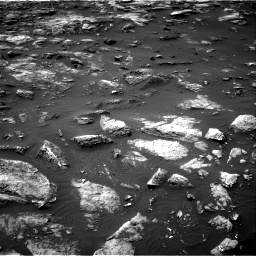 Nasa's Mars rover Curiosity acquired this image using its Right Navigation Camera on Sol 1503, at drive 3186, site number 58