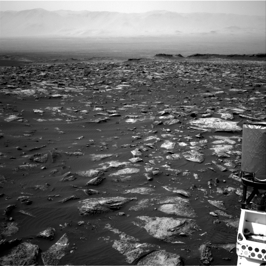 Nasa's Mars rover Curiosity acquired this image using its Right Navigation Camera on Sol 1503, at drive 0, site number 59