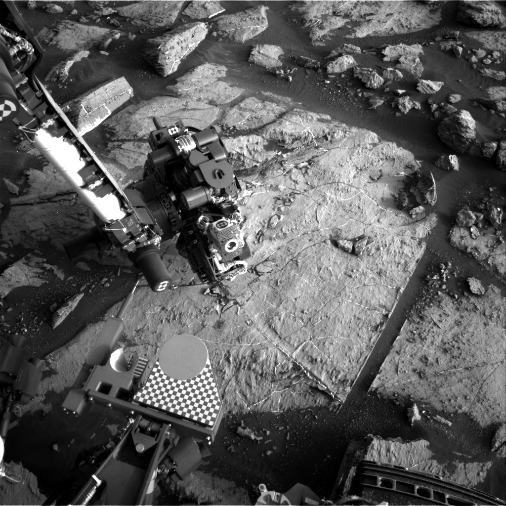 Nasa's Mars rover Curiosity acquired this image using its Right Navigation Camera on Sol 1504, at drive 0, site number 59