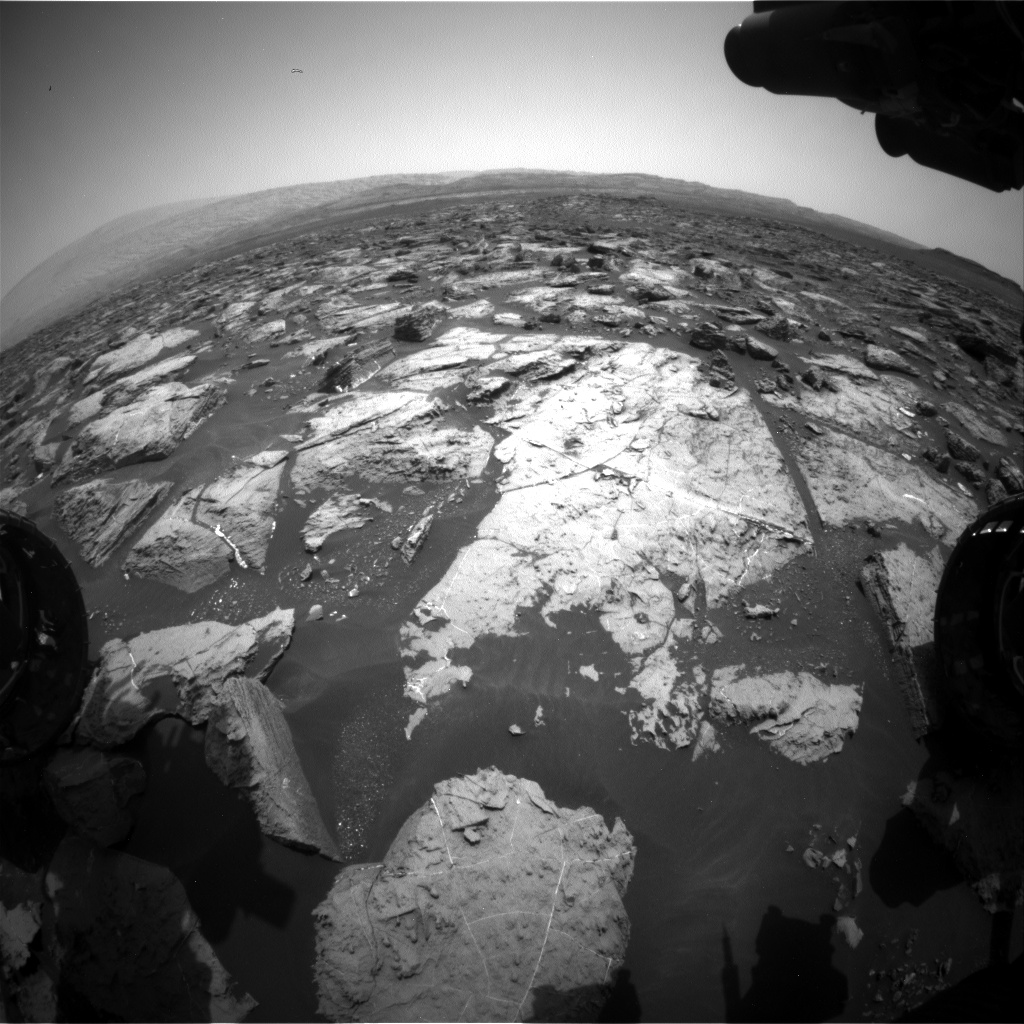 Nasa's Mars rover Curiosity acquired this image using its Front Hazard Avoidance Camera (Front Hazcam) on Sol 1505, at drive 0, site number 59