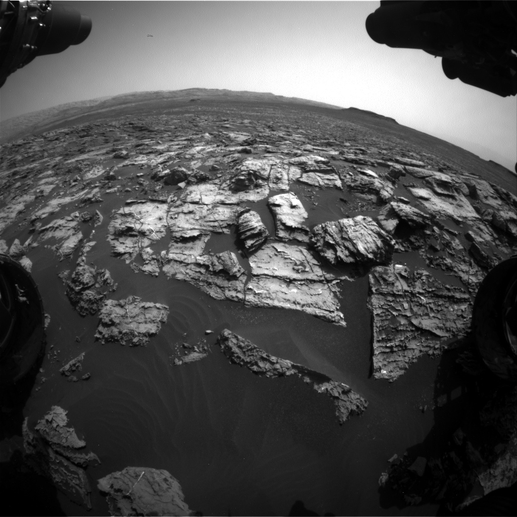 Nasa's Mars rover Curiosity acquired this image using its Front Hazard Avoidance Camera (Front Hazcam) on Sol 1506, at drive 372, site number 59