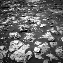 Nasa's Mars rover Curiosity acquired this image using its Left Navigation Camera on Sol 1506, at drive 18, site number 59